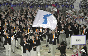 Koreas marching_together_in_Sydney_2000_Opening_Ceremony