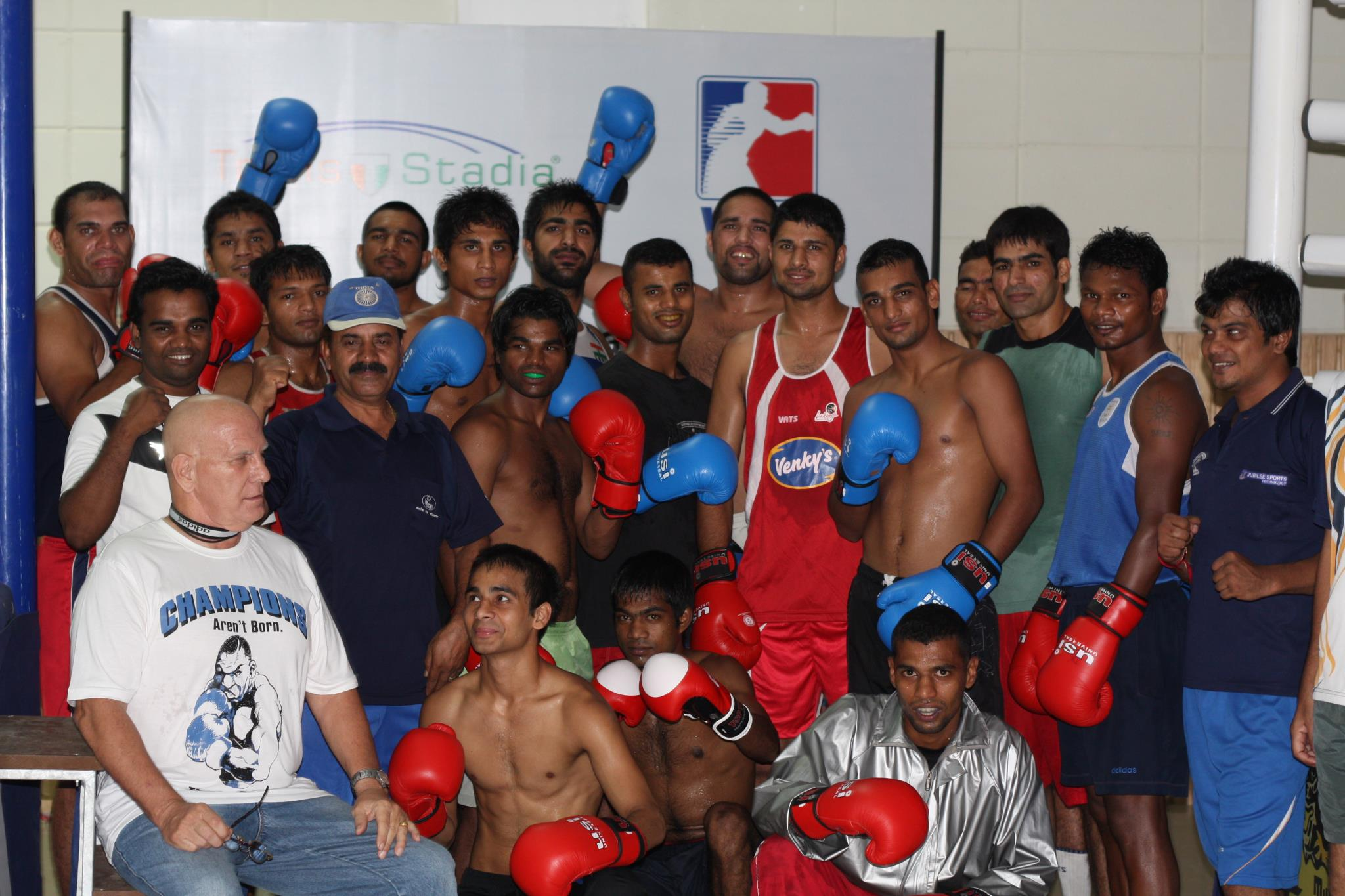 The Mumbai_Fighters_training_camp_in_Balewadi_Pune_with_Technical_Director_Joe_Clough_and_head_coach_Shiv_Kumar_Pal_17-10-11
