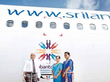 Hambantota 2018_name_on_Sri_Lankan_plane
