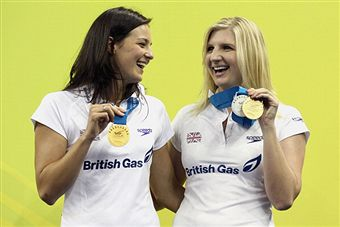 Rebecca Adlington_with_Keri-Anne_Payne_Shanghai_July_2011