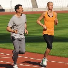 Sebastian Coe_and_Hannah_England_at_London_2012_Olympic_Stadium
