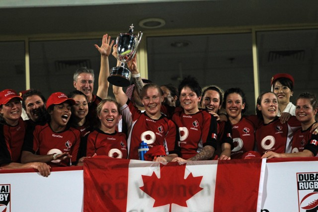 Canada women_celebrate_winning_tournament_in_Dubai_December_3_2011