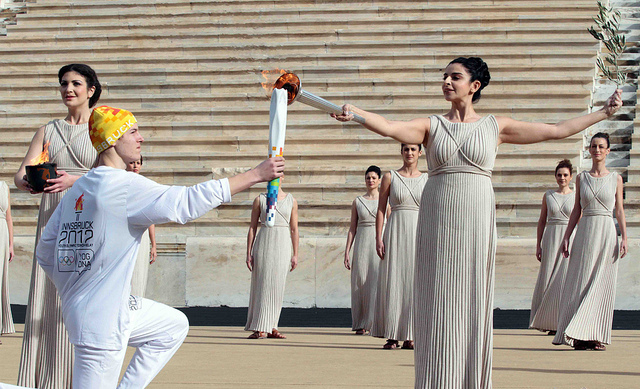 Olympic torch_being_lit_Athens_December_17_2011