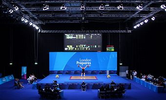 Weightlifting London_2012_test_event_ExCel_December_11_2011