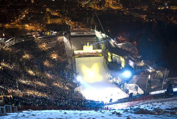 Bergisel Stadium_lit_up