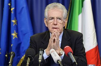 Mario Monti_in_front_of_Italian_and_EU_flag