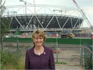 Dee Doocey_outside_Olympic_Stadium