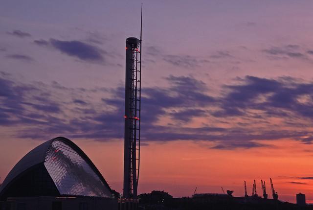 Glasgow landmark_at_dusk