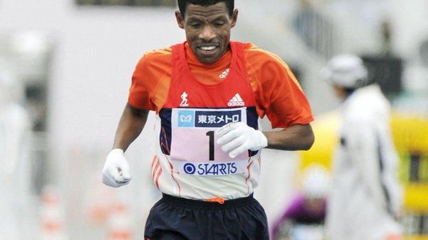 Haile Gebrselassie_Tokyo_Marathon_February_26_2012