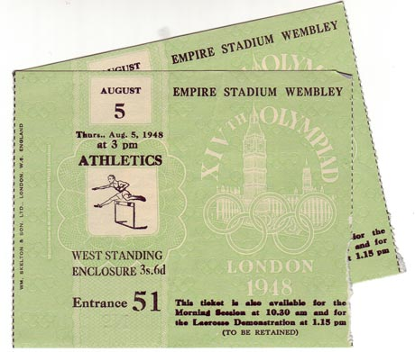 London 1948_tickets