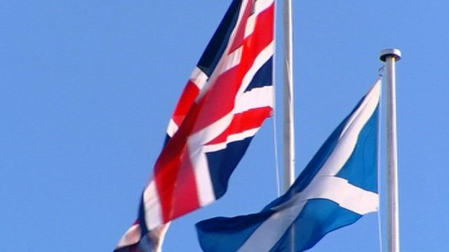 Scottish flag_with_GB_flag
