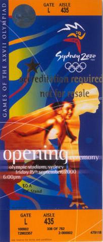 Sydney 2000_Tickets