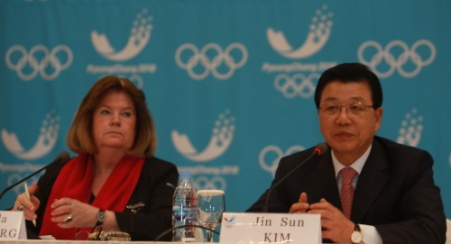 Gunilla Lindberg_with_President_Kim_Pyeongchang_March_22_2012