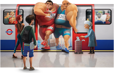 London 2012_transport_poster_of_wrestlers