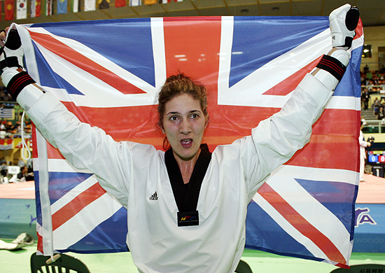 Sarah Stevenson_celebrates_world_title_May_3_2011