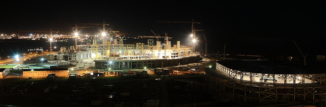 Sochi 2014_Olympic_Stadium_under_construction