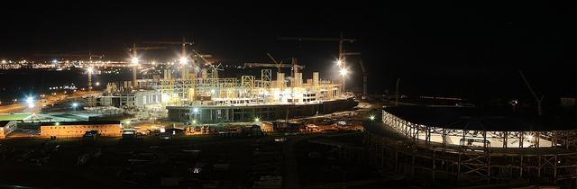 Sochi 2014_Olympic_Stadium_under_construction