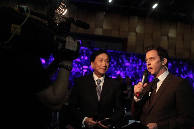 C K_Wu_being_interviewed_ExCel_London_May_2_2012