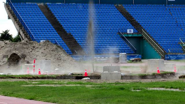 Damaged QE11_Stadium_May_4