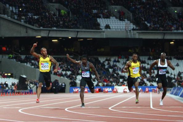 James Ellington_wins_100m_at_opening_of_Olympic_stadium_May_5_2012