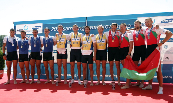 Peter Reed_Tom_James_Andy_Triggs_Alex_Gregory_celebrate_winning_World_Cup_Belgrade_May_6_2012