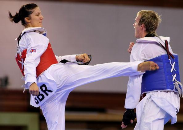 Sarah Stevenson_in_training