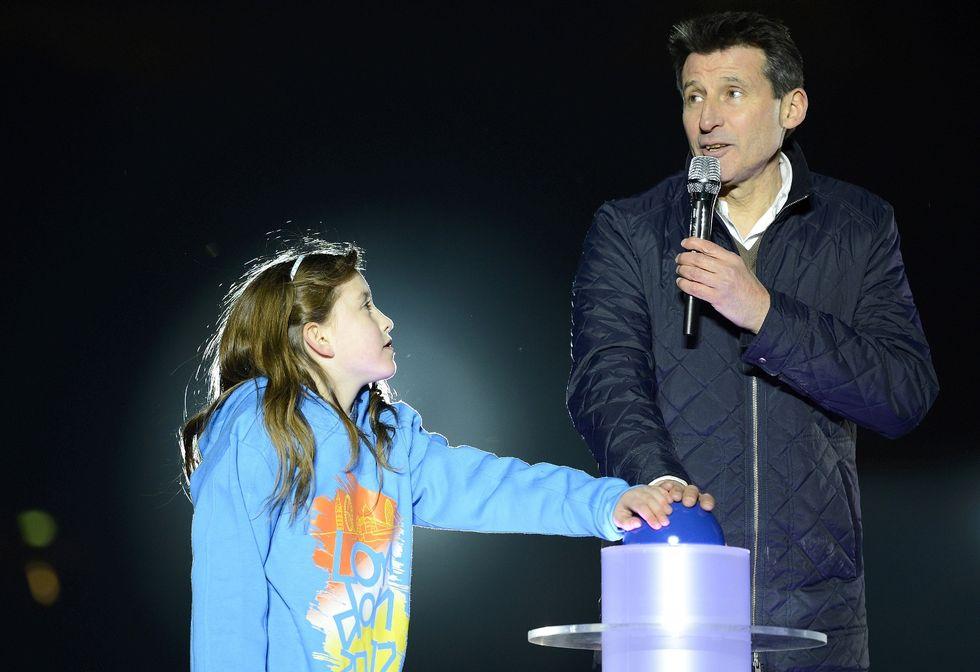 Sebastian Coe_and_Niamh_Clarke-Willis_open_London_2012_Olympic_Stadium_May_5_2012