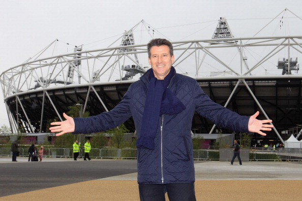 Sebastian Coe_outside_Olympic_Stadium_on_day_it_opened_May_5_2012