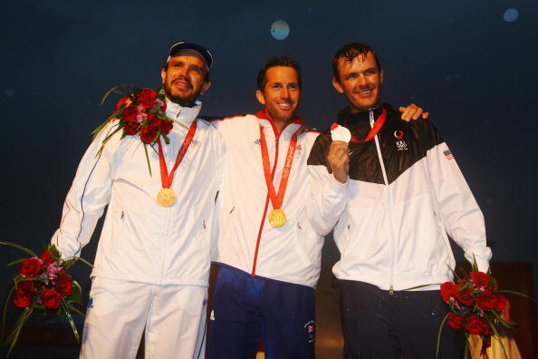 Bronze medalist_Guillaume_Florent_of_France_Gold_medalist_Ben_Ainslie_of_Great_Britain_and_Silver_medalist_Zach_Railey_of_the_United_States