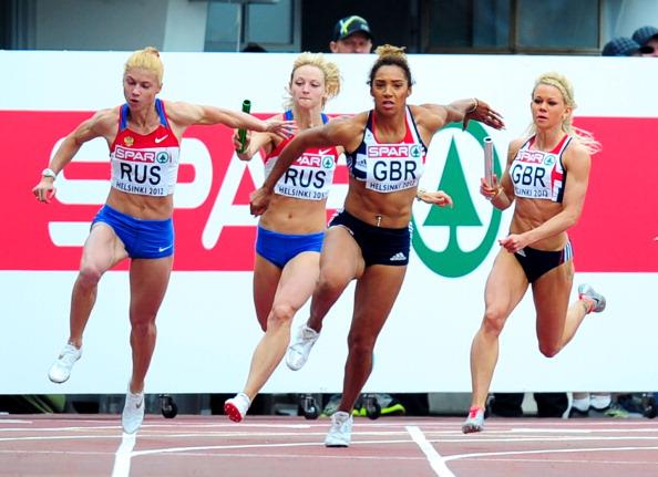 Hayley Jones_of_Great_Britain_in_the_4x100m_European_Championship_Helsinki_2012