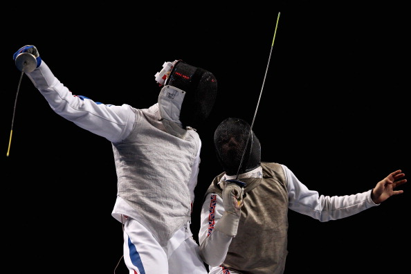 Husayn Rosowsky_R_of_Great_Britain_in_action_against_Brice_Guyart_of_France_12-06-12