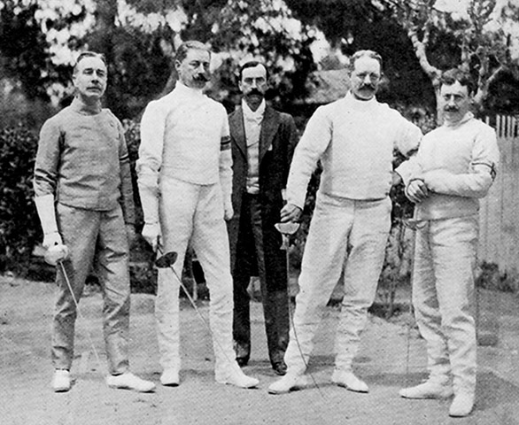 Lord Debsorough_with_British_Fencing_team