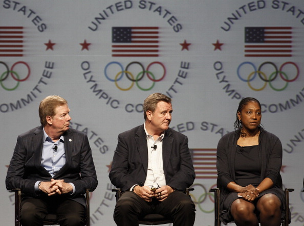 Teresa Edwards_with_Larry_Probst_and_Scott_Blackmun