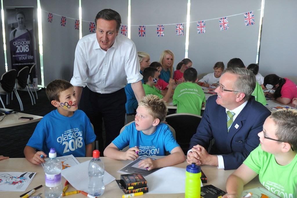 David Cameron__Leader_of_Glasgow_City_Council_Councillor_Gordon_Matheson
