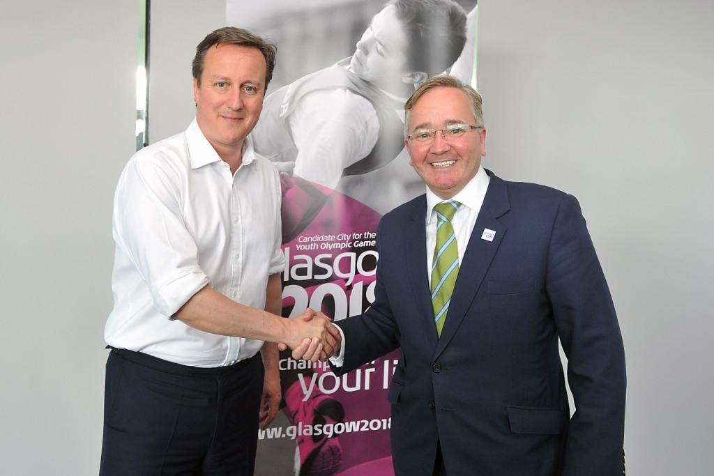 David Cameron__leader_of_Glasgow_City_Council_Gordon_Matheson