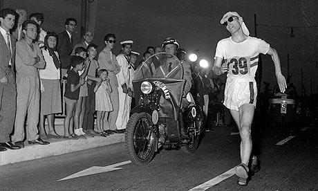 Don Thompson_wins_50km_Rome_1960