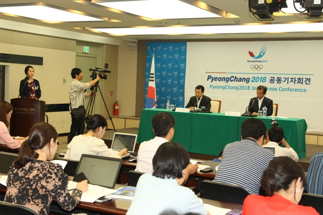 Jin Sun_Kim_holds_Pyeongchang_2018_press_conference_to_mark_one_year_since_awarded_Olympics_July_2012