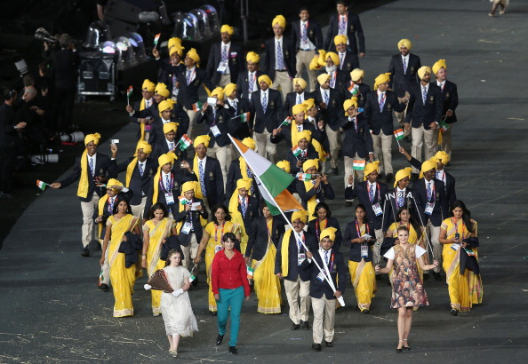 Mystery woman_with_India_in_London_2012_opening_ceremony