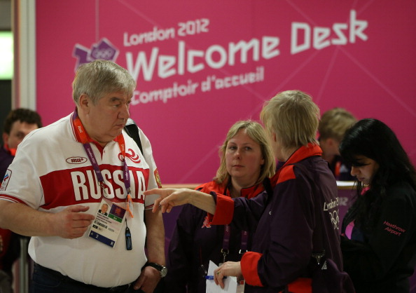 Russian competitor_arrives_at_Heathrow_July_16_2012