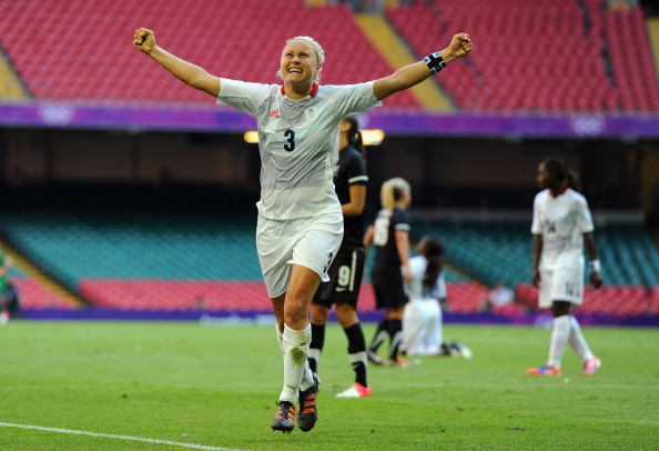 Steph Houghton_celebrates_goal_v_New_Zealand_London_2012_Cardiff_July_25_2012