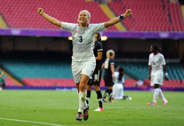 Steph Houghton_celebrates_goal_v_New_Zealand_London_2012_Cardiff_July_25_2012