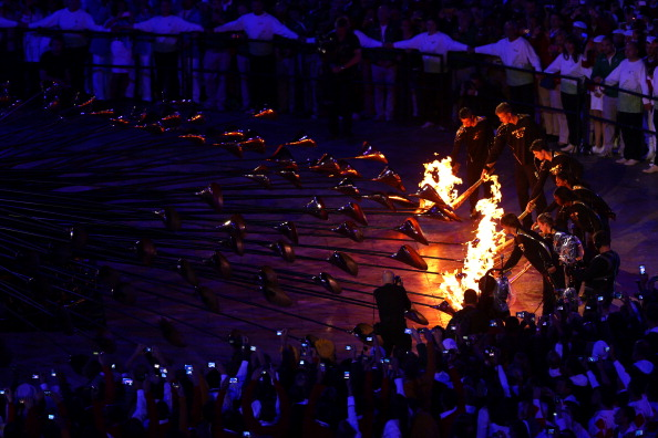 The Olympic_Cauldron_is_lit_during_the_Opening_Ceremony_of_the_London_2012_Olympic_Games_at_the_Olympic_Stadium_28-07-12