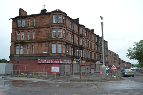 dalmarnock-tenement-facing-demolition-for-glasgow-2014 03-07-12