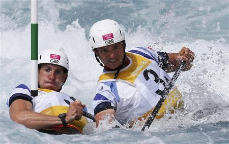 Britains Tim_Baillie_R_and_Etienne_Stott_compete_in_the_mens_canoe_double_C2_semi-final_at_Lee_Valley_White_Water_Centre_during_the_London_2012_Olympic_Games