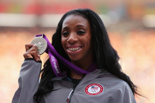 Lashinda Demus_with_Olympic_silver_medal_400m_hurdles_London_2012