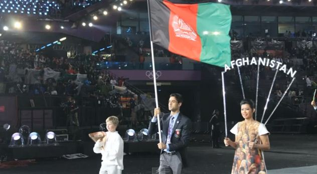 Nesar Ahmad_Bahawi__during_London_2012_Opening_Ceremony_July_27_2012