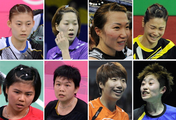 Top Row_L-R_South_Koreas_Kim_Ha_Na_Ha_Jung-Eun_Kim_Min-Jung_Jung_Kyung-Eun._Bottom_Row_L-R_Indonesias_Greysia_Polii_Meiliana_Jauhari_and_Chinas_Wang_Xiaoli_and_Yu_Yang