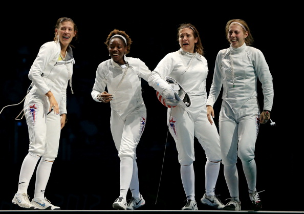 US womens_epee_team_celebrate_bronze_medal_at_London_2012