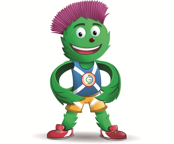 Glasgow 2014_mascot_Clyde_with_hands_on_hip