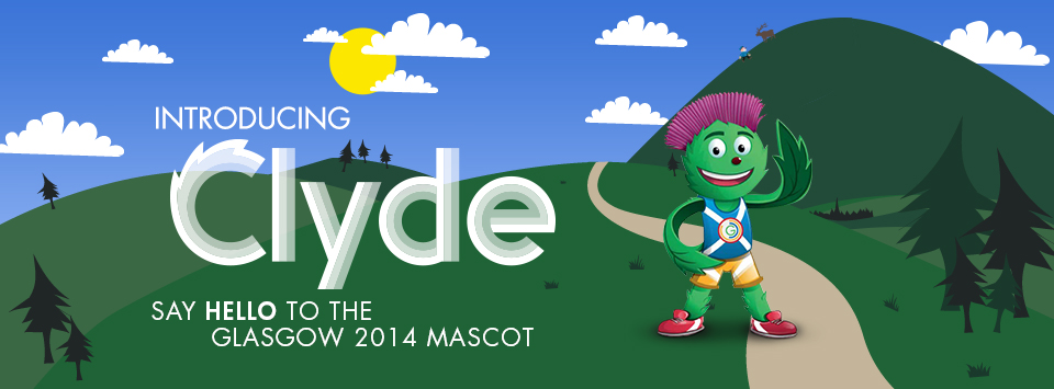 Glasgow 2014_welcome_Clyde_the_mascot